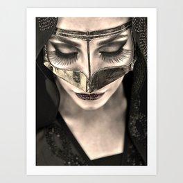 Neqab Portrait Art Print