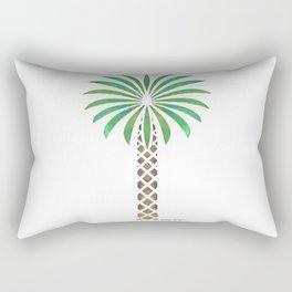 Tribal Canary Date Palm Tree Rectangular Pillow