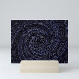 Purple tunnel. Mini Art Print