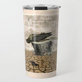 BLACK BIRD Halloween Illustration Travel Mug