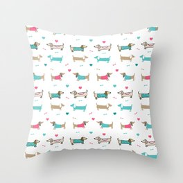 Dachshunds love Throw Pillow