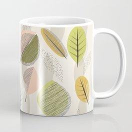 Mid Century Modern Falling Leaves Coffee Mug