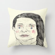 Marina Abramović Throw Pillow