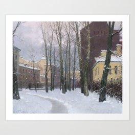 Winter at the Vasily's island Art Print