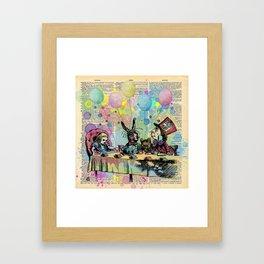 Tea Party Celebration - Alice In Wonderland Framed Art Print