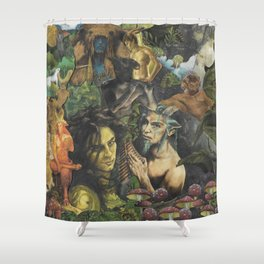 Horned Gods Shower Curtain