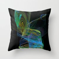 drunk Throw Pillows featuring Drunk by Christy Leigh