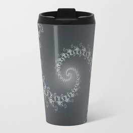 Follow the White Light - Fractal Art Travel Mug