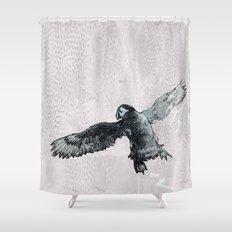 Soar the puffin Shower Curtain
