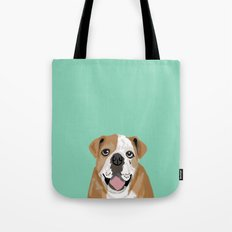 Roscoe - English bulldog dog dogs pet pets gifts for dog person dog people  Tote Bag