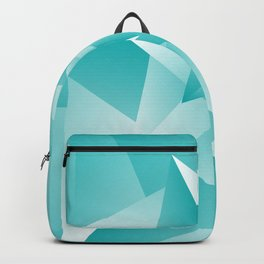 Bluish Trendy Triangle Pattern Backpack