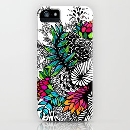Floral Being iPhone Case