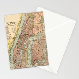 Vintage NYC Subway Map (1903) Stationery Cards