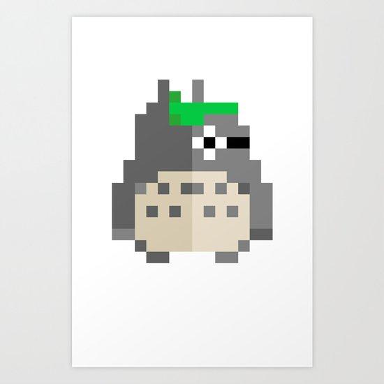 pixel guy Art Print