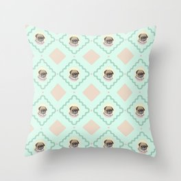 Sra. Pug Throw Pillow