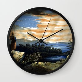 Our Heaven Born Banner Wall Clock