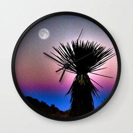 Moonlight Desert Cactus Wall Clock