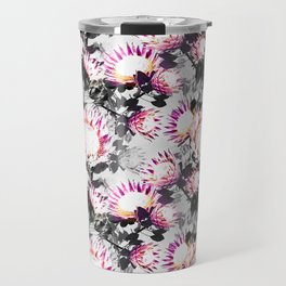 Floral pattern protea Travel Mug