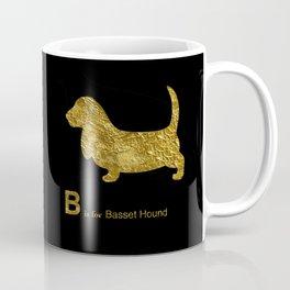 Basset Hound | Dog | gold foil Coffee Mug