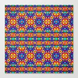 Huichol bracelet Canvas Print