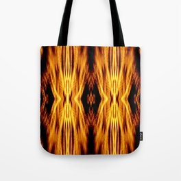Flame Pattern Fire Astract Tote Bag