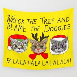 Holiday Cat Brats Wall Tapestry