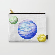 Illustration of watercolor round planet Carry-All Pouch