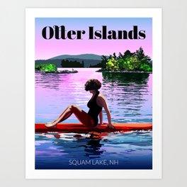 Otter Islands Art Print
