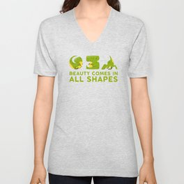 Beauty comes in all shapes Unisex V-Neck