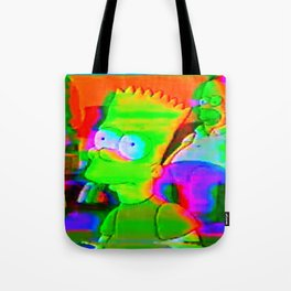 simpsons acid glitch Tote Bag