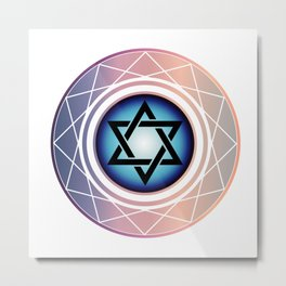 Jewish Star of David Metal Print