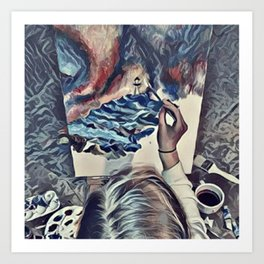 The Universe Inside My Head (Overhead) Art Print