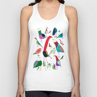 birds Tank Tops featuring  Birds by Ashley Percival illustration