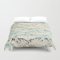 mountains Duvet Covers featuring Mountains  by rskinner1122