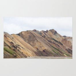 Landmannalaugar rainbow mountain in Iceland - lanscape photography Rug