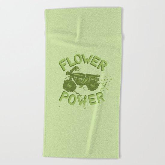 FLORAL FUEL Beach Towel