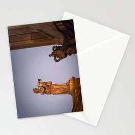 Muse of Flutes and  Lyrical Poetry Euterpe on the Clarendon Building Oxford University England Stationery Cards