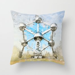 Atomium Brussels, Belgium Throw Pillow