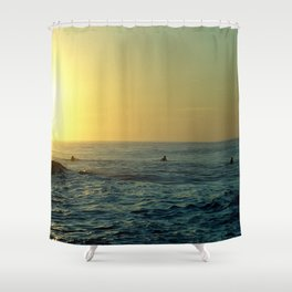 Waiting for a Wave Shower Curtain