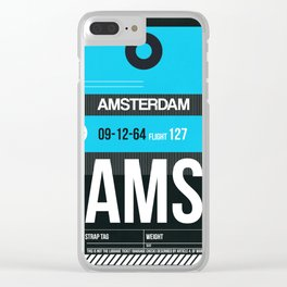 AMS Amsterdam Luggage Tag 1 Clear iPhone Case
