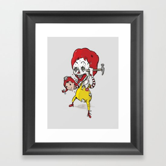 I'm luvin' it Framed Art Print