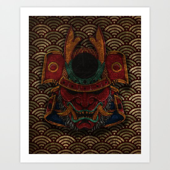 samurai mask Art Print