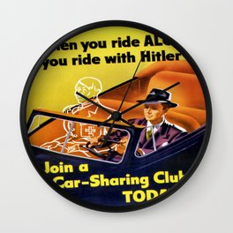 Vintage poster - Car-Sharing Club Wall Clock