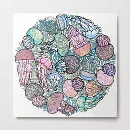 Jellyfishes Metal Print