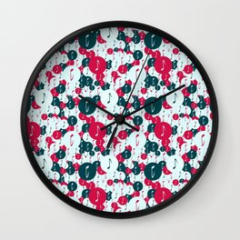 Musical repeating pattern No.5, Collection No.1 Wall Clock