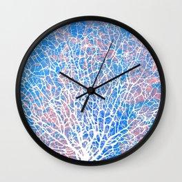 Abstract sea fan coral Wall Clock