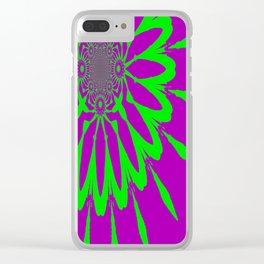 The Modern Flower Purple & Green Clear iPhone Case