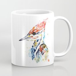 Woodpecker Colorful Watercolor Bird Painting Coffee Mug
