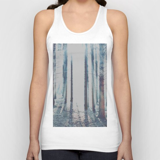 Watercolor Forest Unisex Tank Top