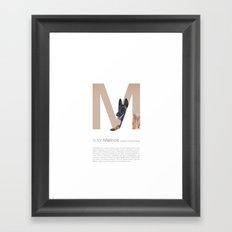 M is for Malinois Framed Art Print